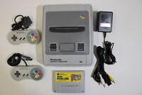 Nintendo Super Famicom Console & Super Mario World SFC SNES Japan Import K1330M