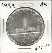 Canada 1939 Silver Dollar $1 AU