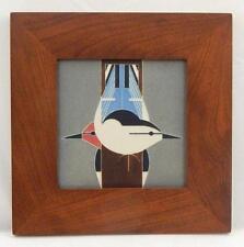 Framed Arts and Crafts Motawi 6x6 Upside Downside Charley Harper Tile E983
