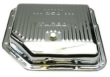 TH350 TH350C New Steel Chrome Transmission Oil Pan Shallow Type With Drain Plug