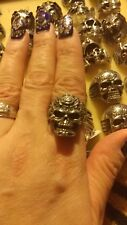 Large Mens Stainless Steel Biker skull ring Sz 11