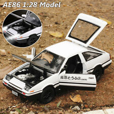 Initial D Metal Toyota AE86 1:28 Car Model Toy With Sound & Light For Kids Gift