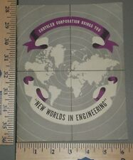 1952 Chrysler New Worlds In Engineering Brochure