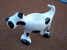 New Black And White Ceramic Dog Shaped Egg Cup