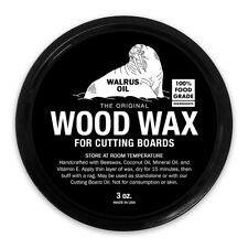 WALRUS OIL - Wood Wax 3oz, Food-Safe Finish for Cutting Boards & Butcher Blocks