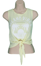 Space Ibiza Vest Top Pale Yellow New Look