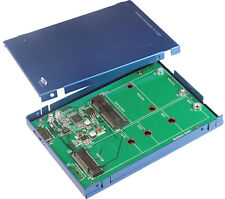 EXSYS ex-3671 - USB 3.1 (Gen2) A con 2 & mSATA carcasa con Micro-B Conexión