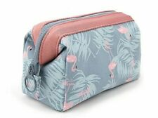 Makeup Storage Cosmetic Bag Women Flamingo Pouch Travel  Zipper Handbag Beauty