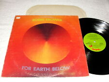 "Robin Trower ""For Earth Below"" 1975 Rock LP, VG+, Original Green Labels"