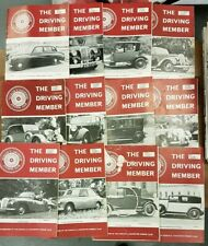 The Driving Member, Daimler & Lanchester Club Magazine. 12 issues Vol 13, 1976-7