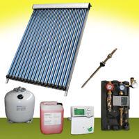 Solaranlage 9 m² SPA Vakuumröhren Komplettpaket Röhrenkollektor Neu