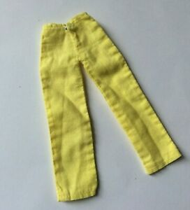 Attractive Yellow Trousers for a fashion doll vintage dolls clothes