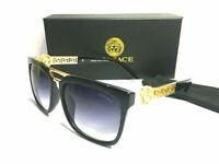 Versace Sunglasses Blue-Less golden/Black Men Sunglasses 56mm