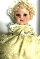 "TOO CUTE 8"" Crib Crowd Yellow Dimnity Dressed Doll by Vogue Nrfb ORIG BOX!"