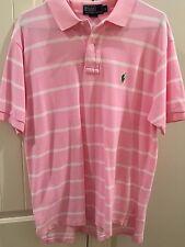 Ralph Lauren Polo Sz L Pink White Stripe men's