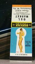 Vintage Matchbook Cover Circa 1950 Clarksburg West Virginia Market Pin Up Girl