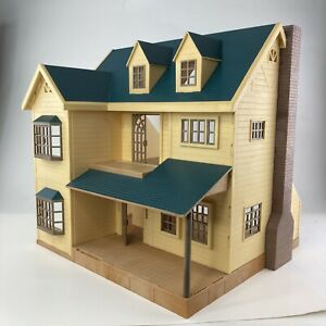 Vntg Calico Critters Sylvanian Epoch Deluxe Village Manor Hill House Green Roof