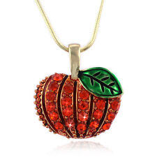 Halloween Thanksgiving Fall Autumn Harvest Pumpkin Pendant Necklace Jewelry