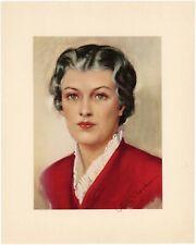 Betty Crocker - First Portrait of the Fictional Baker w/Facsimile Signature/VF