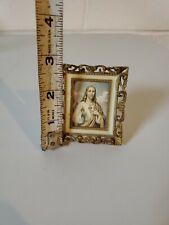 Vintage Miniature Plastic Jesus Picture Hong Kong