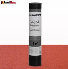 Schweißbahn V60 S4 beschiefert ROT 5 m² Bitumenbahn Schweissbahn Dachpappe HQ+