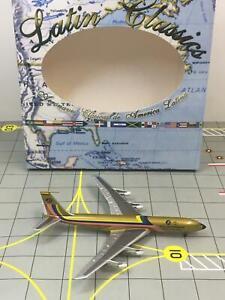 "RARE AeroClassics 1:400 Ecuatoriana Jet Cargo Boeing 707 HC-BGP ""Rainbow End"""