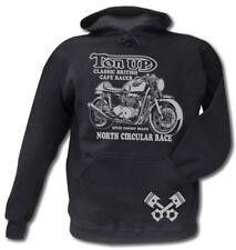 Cafe Racer Motorrad Hoodie Sweater Ton Up Triumph Thruxton Bonneville Rocker