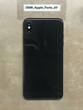 OEM Apple iPhone XS Max Space Gray BACK HOUSING FRAME GLASS Excellent!!