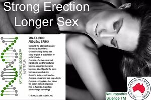 MALE LIBIDO SPRAY LONGER ERECTION DELAY EJACULATION BY UP TO 30 MINS MADE IN AUS