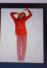PRETTY SECRETS LADIES 'BABY ITS COLD OUTSIDE' GIFT PYJAMA'S RED UK 16-18 NEW!