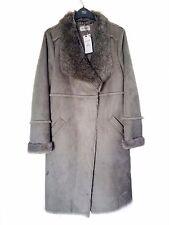 M&S Classic Faux Fur/Suede Coat