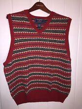 "Polo Sport Ralph Lauren ""Fair Isle"" Pattern Sweater Vest, Red Trim, Size XL"