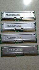 1GB 4 x 256MB Samsung RDRAM Rambus Rimm PC1066-32 1066-32P 4 Dell 8250 8200 8100