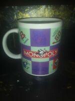 Monopoly Coffee Tea Mug Hasbro Sherwood 2004 Iron Car Pass GO Free parking
