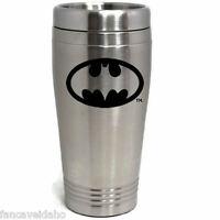 DC Comics Batman Stainless Steel Black Logo Travel Mug Tumbler Cup