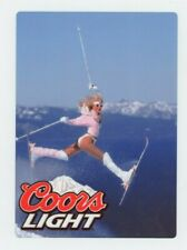 Coors Light METAL Beer Sign - Sexy Snow Skier