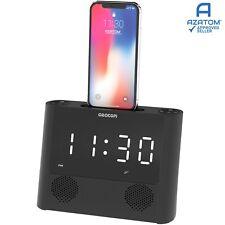 iPhone Radio Alarm Clock Docking Station Speaker Charger Dock iPod AZATOM iRise