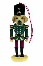 Labrador Retriever Yellow Dog Toy Soldier Nutcracker Christmas Ornament