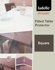 Inhabit Waterproof Brown Fitted Table Protector by Ladelle | 150x150cm Sq