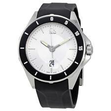 Calvin Klein Play Silver Dial Black Rubber Mens Watch K2W21XD6