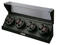 Diplomat Eight 8 Watch Winder Black Finish w/ Carbon Fiber Interior 31-478
