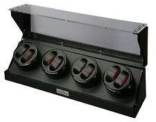 Diplomat Eight 8 Watch Winder Black Finish w/ Carbon Fiber Interior 31-478