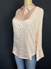 Calvin Klein pastel Pink Long sleeve button up Shirt Womens Size S Career $80