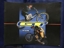 NOS 1999 GT Y2K BICYCLES PRODUCT CATALOG BMX RACING / BMX FREESTYLE