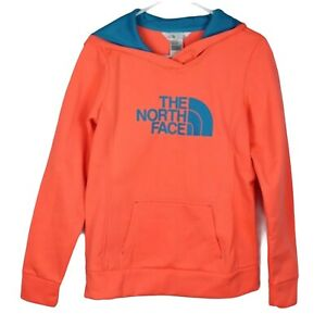 The North Face women's hoodie orange polyester long sleeve size S/P