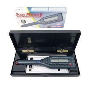 Scale Master II Digital Plan Measuring System Model 6125 Case Box NEW Open Box