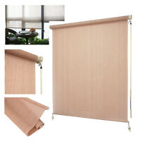 8'W x 8'L Roller Shade Blind Roll up w/ crank For Deck Porch Balcony Patio Light