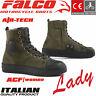 FALCO Damen Schuhe LENNOX LADY kurze Motorrad CE Lederstiefel Protektoren grün