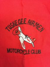 Tuskegee Airmen Motorcycle Club Button Front Red Shirt SS L Embroidered
