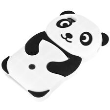 Chic Case in TPU per Apple iPhone 4 4s PANDA silicone NERO guscio cover per cellulare